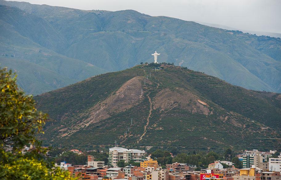 Bolivien Jesus Statue