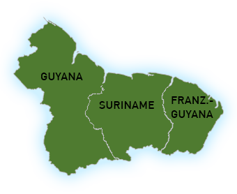 Guyana Landkarte