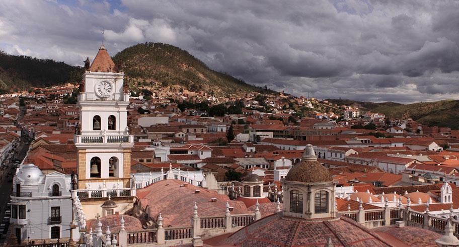 Sucre Plaza 25 de Mayo Bolivien historische Städte