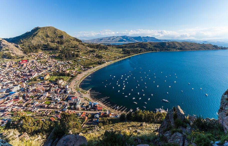 Copacabana Titicaca See Bolivien